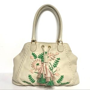 ISABELLA FIORE Lambskin Embroidered Leather